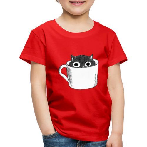 Katze in Tasse - Kinder Premium T-Shirt