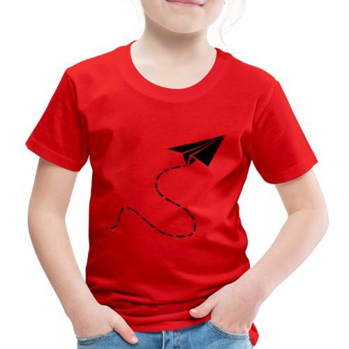 Avión de papel - Camiseta premium niño