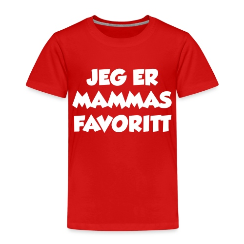 «Jeg er mammas favoritt» (fra Det norske plagg) - Premium T-skjorte for barn