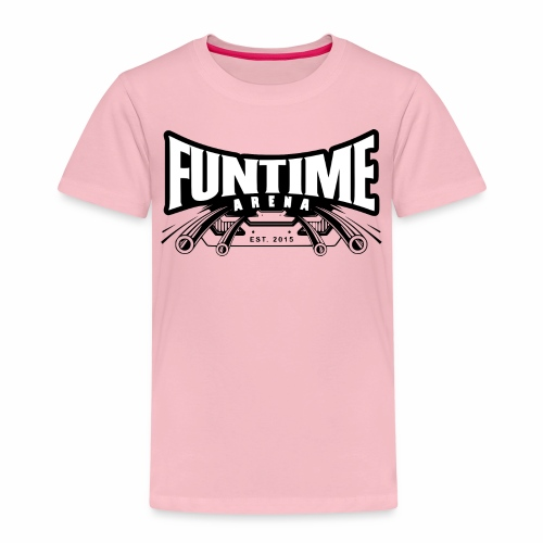 FunTime Logo Weißer text - Kinder Premium T-Shirt
