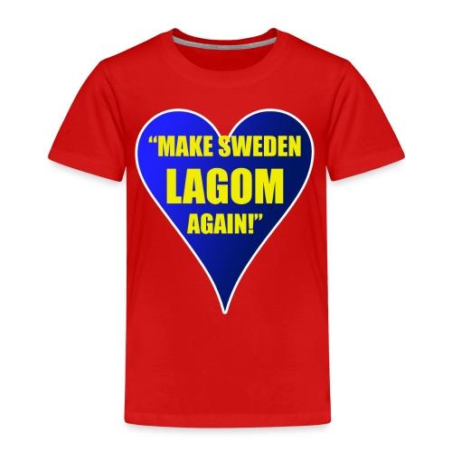 Make Sweden Lagom Again - Premium-T-shirt barn