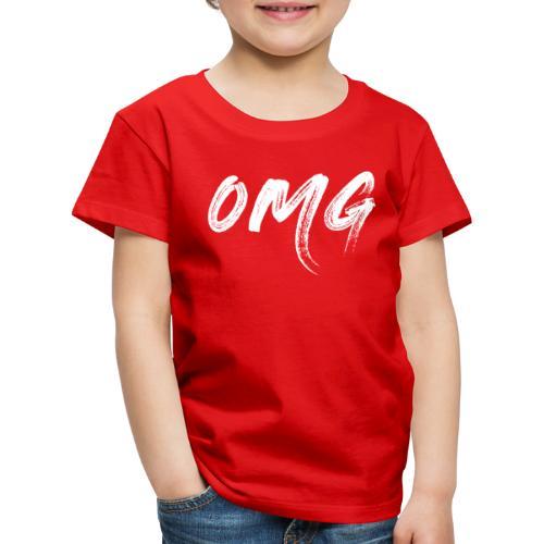 OMG, valkoinen - Lasten premium t-paita