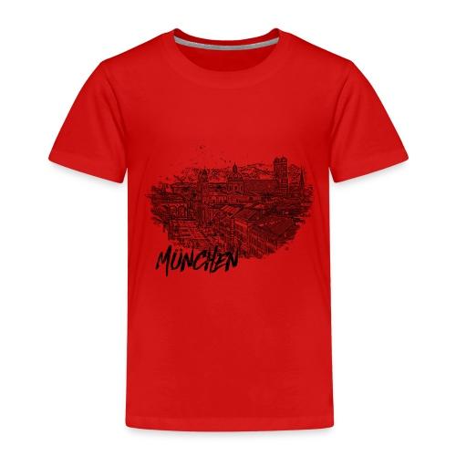 München / Munich City – Stadtansicht Skizze - Kinder Premium T-Shirt