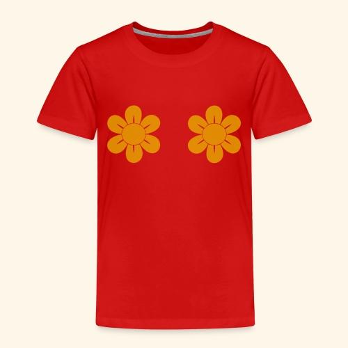 Retro Blomster - Børne premium T-shirt