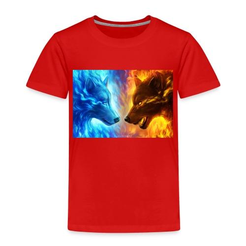 vuur water wolf - Kinderen Premium T-shirt