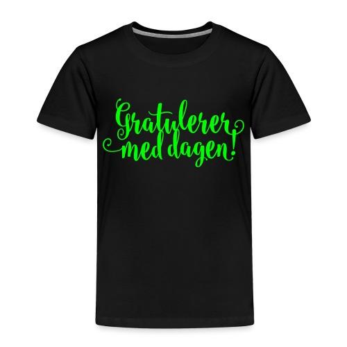 Gratulerer med dagen! - plagget.no - Premium T-skjorte for barn