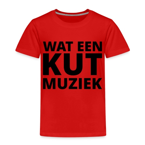 Wat een kutmuziek - Kinderen Premium T-shirt