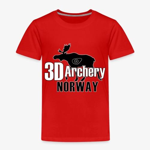 logo 3darchery no - Premium T-skjorte for barn