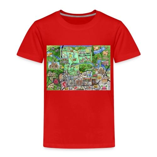 Staycation Live map - Kids' Premium T-Shirt