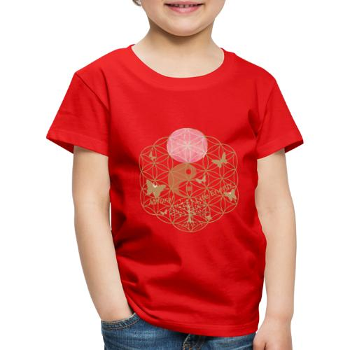Das Leben umgeben von Energie. Blume des Lebens. - Kinder Premium T-Shirt