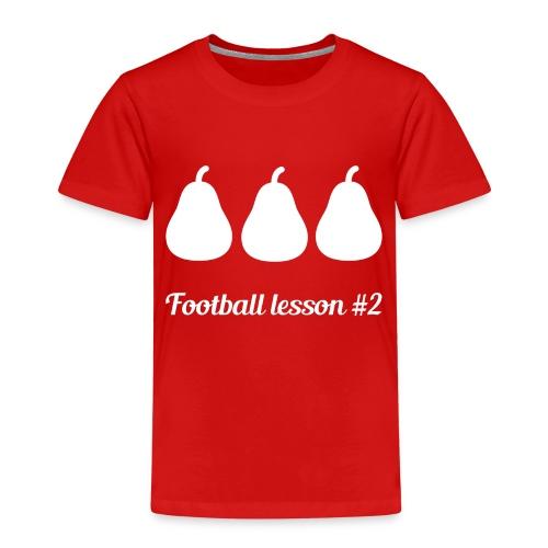 Football Lesson #2 - 3 pere - Maglietta Premium per bambini