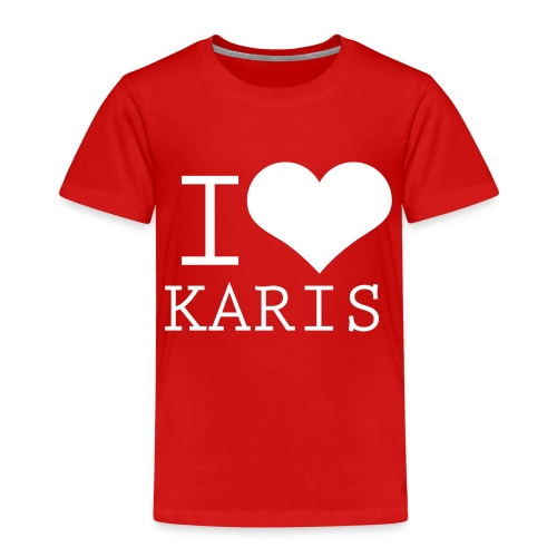 I HEART KARIS full white - Lasten premium t-paita