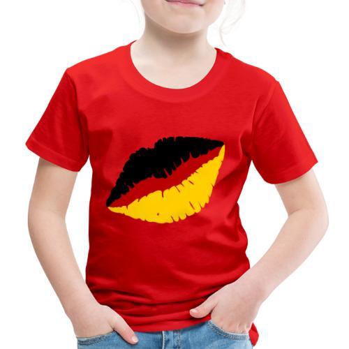 Deutschland Lippen Motiv - Kinder Premium T-Shirt
