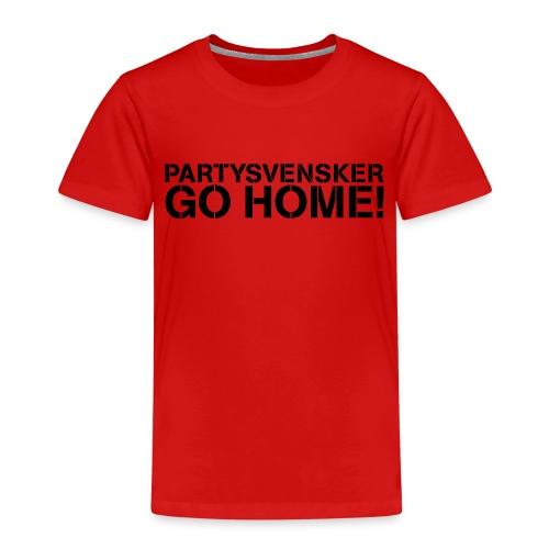 Partysvensker, go home! - Premium T-skjorte for barn