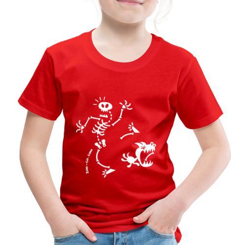 Dog Stealing Skeleton's Bone - Kids' Premium T-Shirt