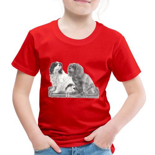 Cavalier King Charles spaniels - Børne premium T-shirt