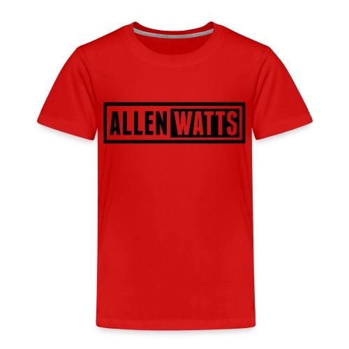 ALLEN WATTS LOGO DARK - Kinderen Premium T-shirt