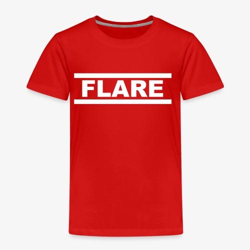 Black Hoodie - White logo - FLARE - Kinderen Premium T-shirt