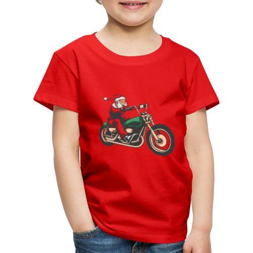 Cool Winter Christmas Santa Motor Biker - Kids' Premium T-Shirt