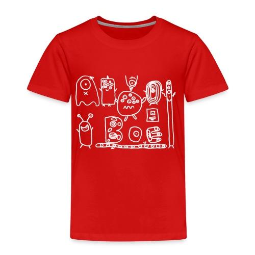 monsters-wit - Kinderen Premium T-shirt