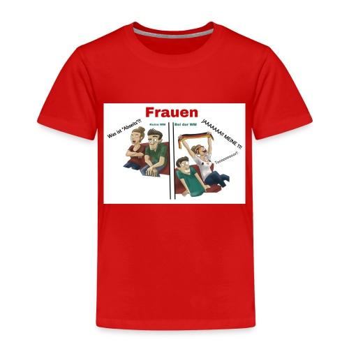 Frauen während der WM - Kinder Premium T-Shirt