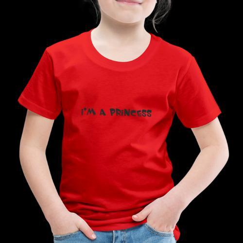 im a princess schwarz - Maglietta Premium per bambini