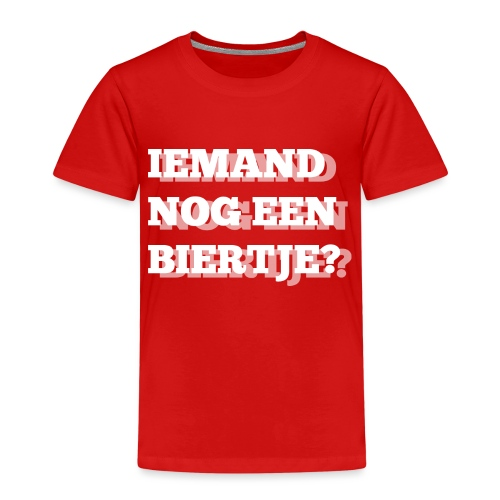 Iemand nog een biertje?? Dubbel kijken print - Kinderen Premium T-shirt