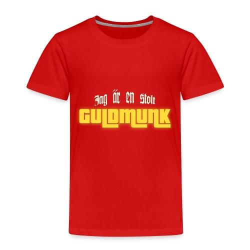 Jag är en stolt GULDMUNK - Premium-T-shirt barn