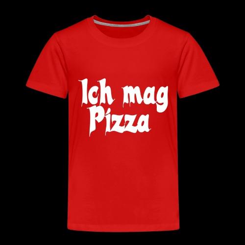 Pizza Logo white - Kinder Premium T-Shirt