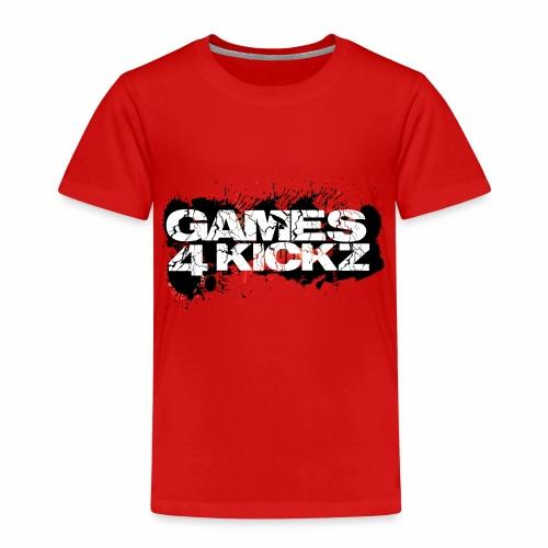 Games4Kickz Logo Splattered Background - Kids' Premium T-Shirt