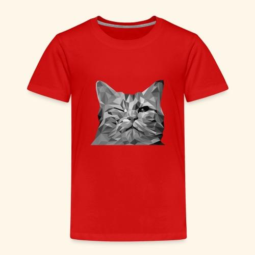 zwinkernde Katze - Kinder Premium T-Shirt