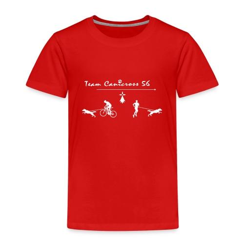 Teamcanicross 56 logo blanc - T-shirt Premium Enfant