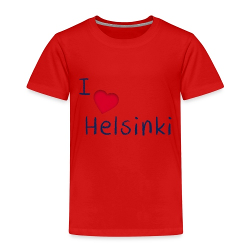 I Love Helsinki - Lasten premium t-paita