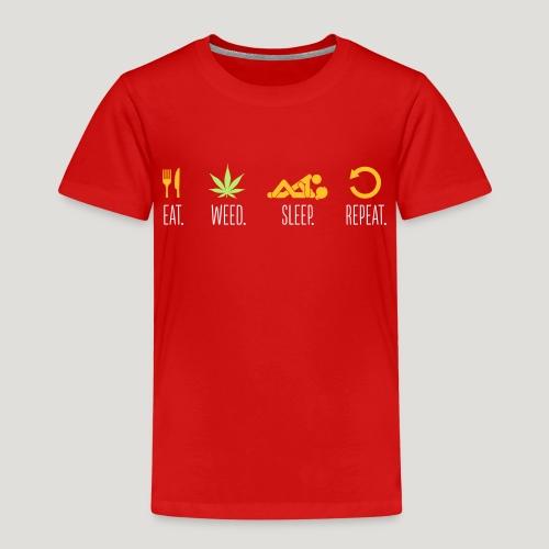 Cannabis Eat Sleep Weed Repeat Gras Marihuana Dope - Kinder Premium T-Shirt