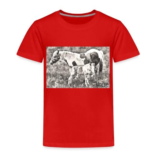 Pinto mit Fohlen - Kinder Premium T-Shirt