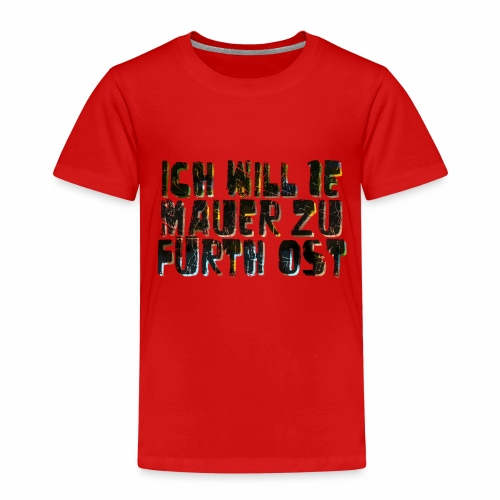 Fuerth Mauer nur Text - Kinder Premium T-Shirt
