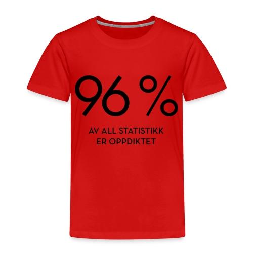 Statistikk-sprøyt (fra Det norske plagg) - Premium T-skjorte for barn