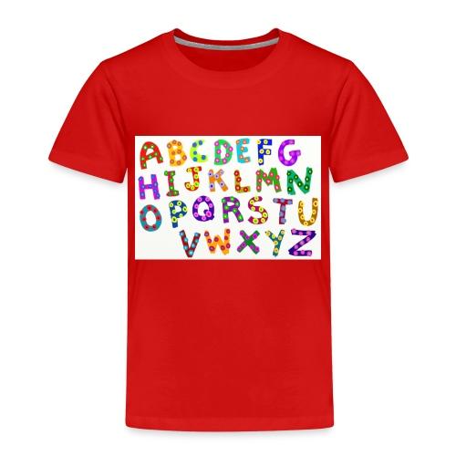 alphabet - Kinder Premium T-Shirt