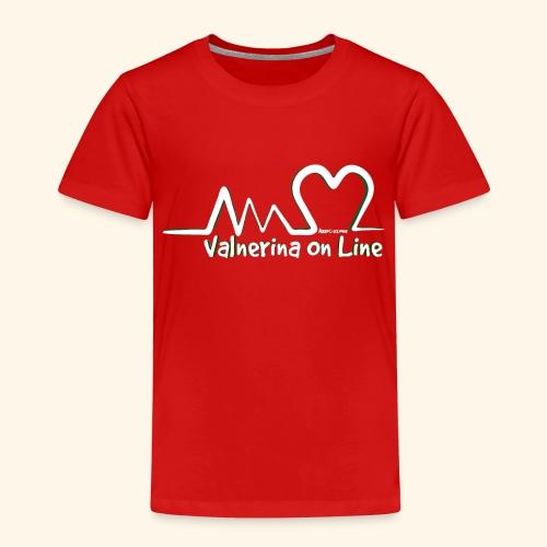 Valnerina On line APS logo bianco con ombra - Maglietta Premium per bambini