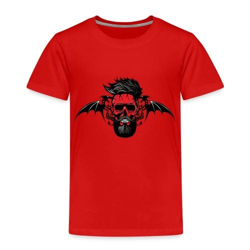 tete de mort hipster dragon tribal skull barbu mou - T-shirt Premium Enfant