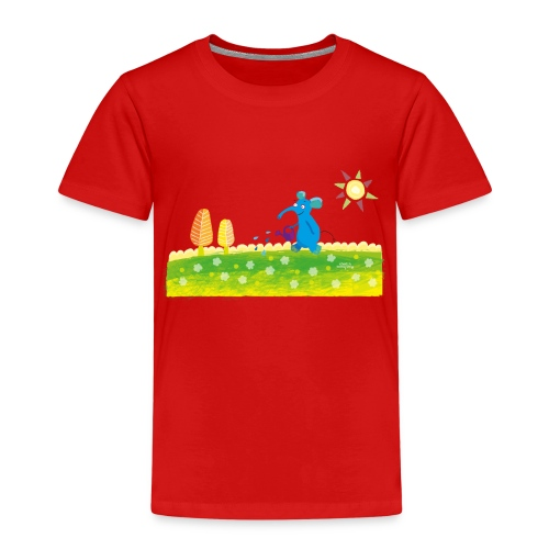 blauer Elefant - Kinder Premium T-Shirt