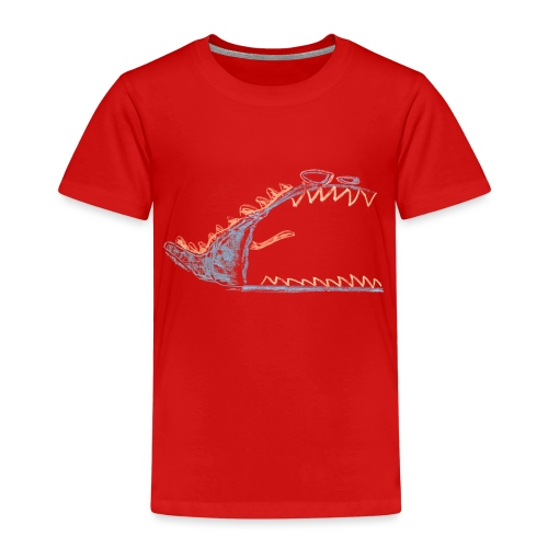 Angry, cranky monster - Kinderen Premium T-shirt