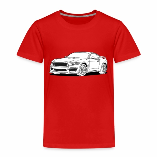 Cool Car White - Kids' Premium T-Shirt