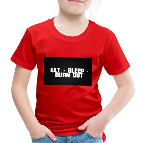 Eat Sleep Burn out - Premium-T-shirt barn
