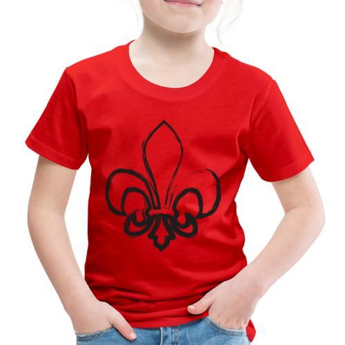 Pinselzeichnung Lilie – Schwarz - Kinder Premium T-Shirt