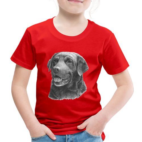 labrador bw - Børne premium T-shirt