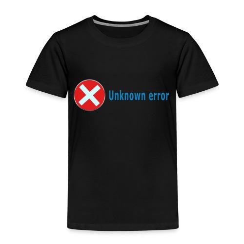 Unkown Error - Lasten premium t-paita
