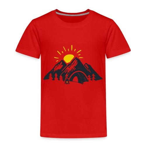 Berge mit Sonne - Kinder Premium T-Shirt