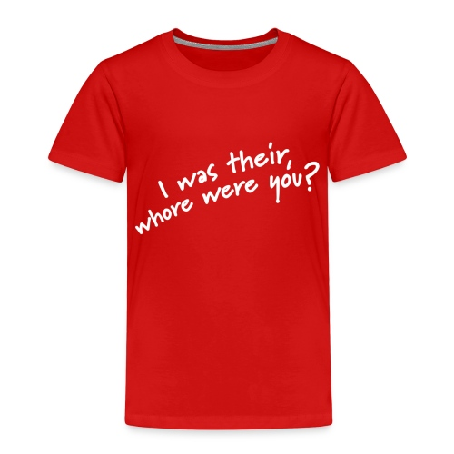 Dyslexic I was there - Kinderen Premium T-shirt