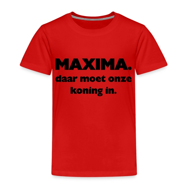 Maxima daar onze Koning in
